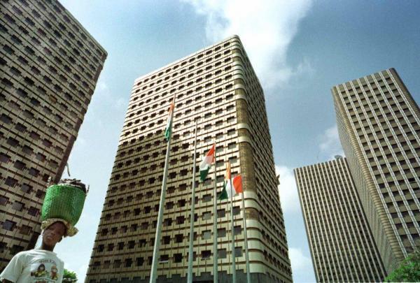 Les tours administratives dans le quartier du plateau à Abidjan