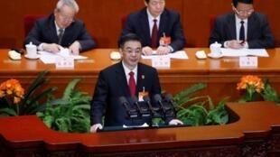 中国最高法院院长周强在人大会堂做报告2015年3月12日北京