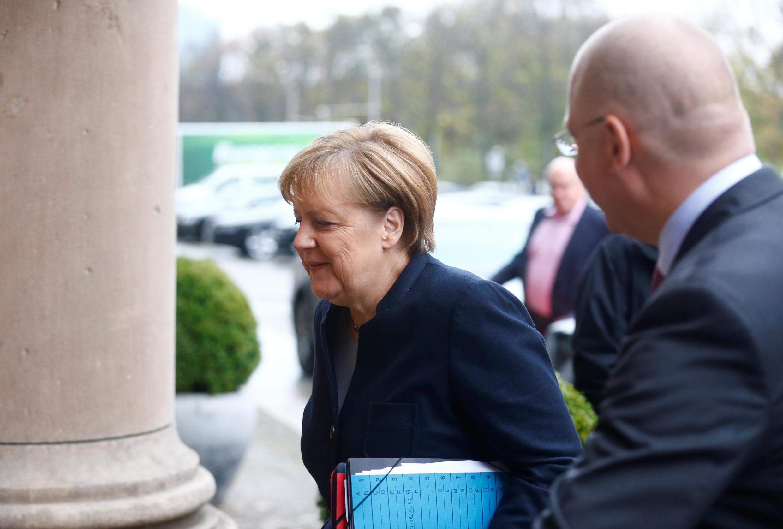 La chancelière allemande Angela Merkel, à Berlin, le 13 novembre 2017.
