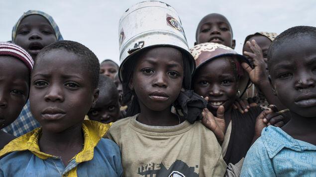 Antigas crianças-soldado na Nigéria.