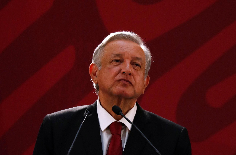 El presidente mexicano, Andrés Manuel López Obrador, el pasado 30 de enero de 2019 durante una conferencia de prensa.