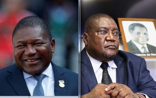 Filipe Nyusi, Presidente de Moçambique, e Ossufo Momade, líder da Renamo.