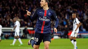 Zlatan Ibrahimovic, avançado sueco do Paris Saint-Germain.