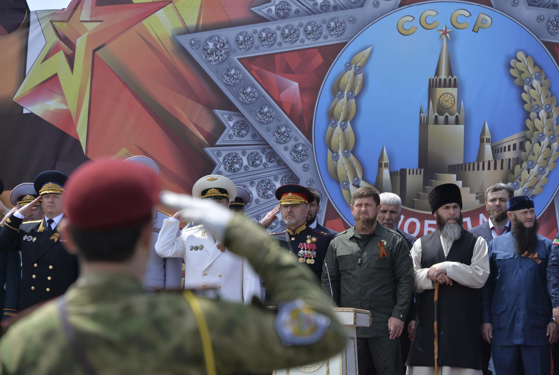 El presidente de Chechenia el 9 de mayo, en la celebración de la redición de la Alemania nazi.