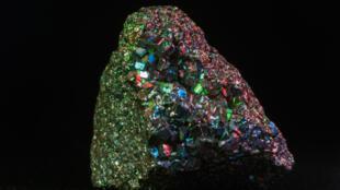 Une pierre de pyrite.