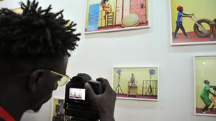 Lors des 11e Rencontres de Bamako, la biennale de photographie au Mali.