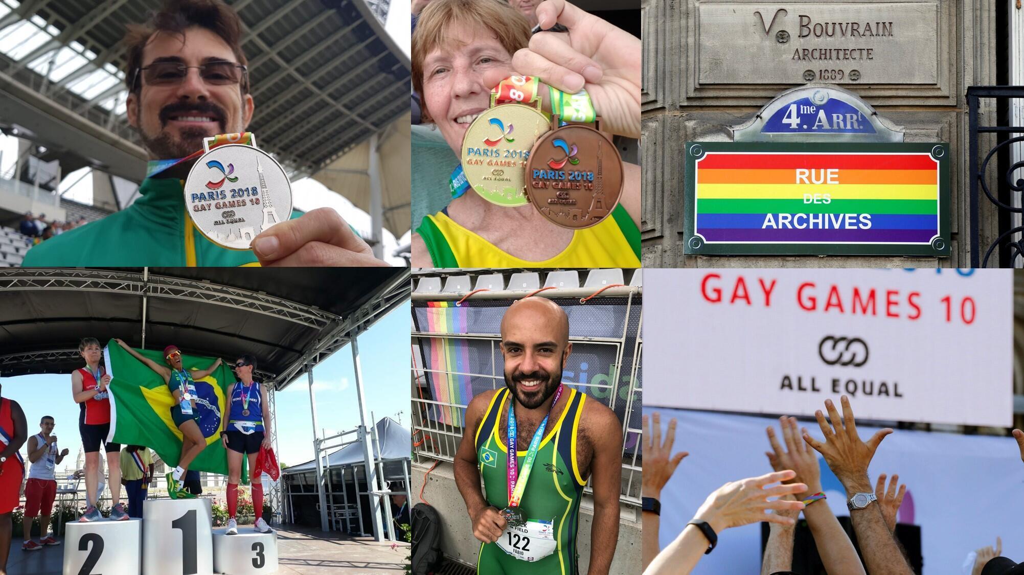Brasileiros conquistam primeiras medalhas brasileiras no Gay Games Paris 2018