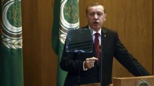 رجب طیب اردوغان، در اجلاس اتحادیۀ عرب در قاهره