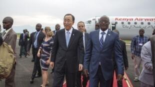 Ban ki Moon Sakatare Janar na majalisar Dinkin Duniya da sauka kasar Burundi