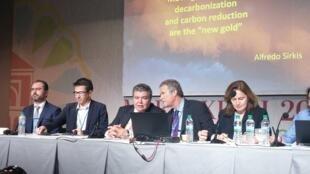 O ministro Sarney Filho abre Side Event do Brasil sobre precificação do carbono no mercado internacional, na COP 22 em Marrakech, Marrocos.