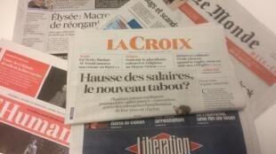 Primeiras páginas dos jornais franceses de 04 de dezembro de 2019