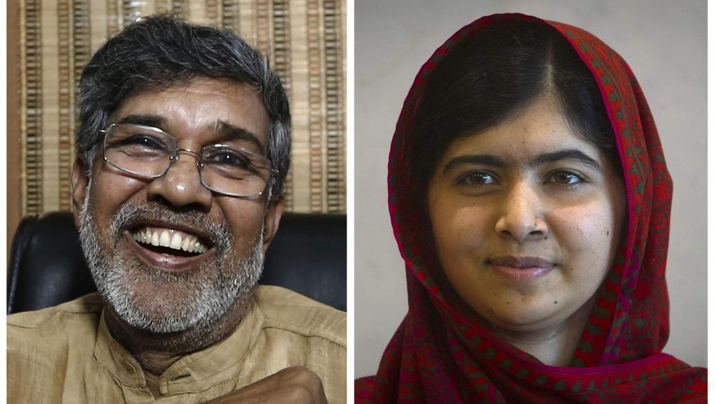 El indio Kailash Satyarthi y la paquistaní Malala Yusafzai.