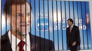 Mariano Rajoy, le candidat de la droite espagnole, donné favori pour les prochaines législatives.