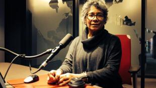 Agnès Wolotegba Boganda lors de son interview à RFI.