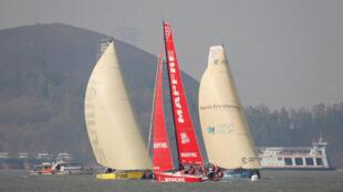 En Chine, les compétitions de voiles sont de plus en plus prisées.