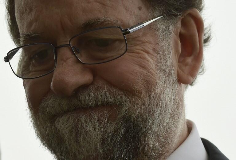 Mariano Rajoy, Primeiro-ministro de Espanha. 16 de Outubro de 2017.