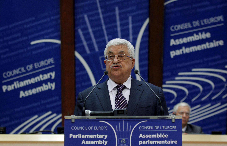 Mahmoud Abbas đọc diễn văn trước Hội đồng Toàn châu Âu tại Strasbourg, ngày 6/10/2011