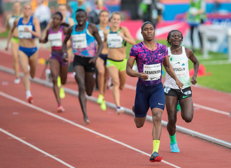 Caster Semenya won the 800 m. women at the Golden League Bislett Games at Bislett stadium.