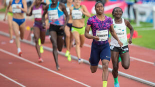 Caster Semenya won the 800 m. women at the Golden League Bislett Games at Bislett stadium.