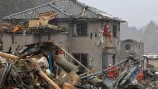 Fukushima sau trận động đất và sóng thần ngày 17/03/ 2011.