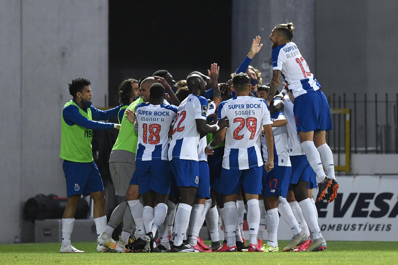 Festejos dos jogadores do FC Porto.