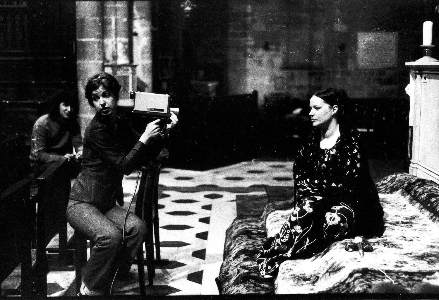 Carole Roussopoulos on the video-shoot of 'Les prostituées de Lyon parlent', 1975. The video film by the Insoumuses Collective gave voice to otherwise silent and invisible womenin the city of Lyons