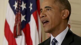 Президент США Барак Обама, Вашингтон, 14 июля 2015.