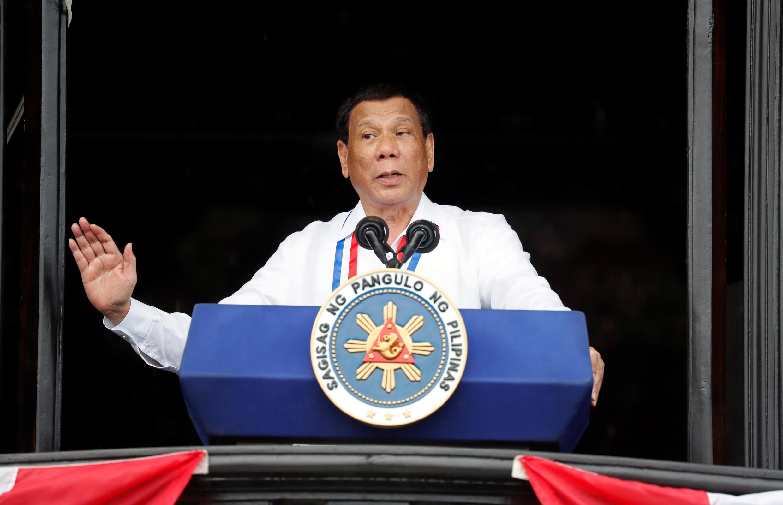 Tổng thống Rodrigo Duterte phát biểu nhân Quốc khánh Philippines, 12/06/2018.