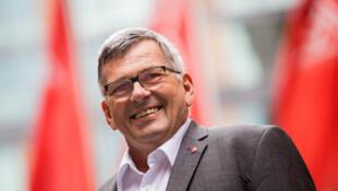 Jörg Hofmann, patron d'IG Metall en Allemagne.