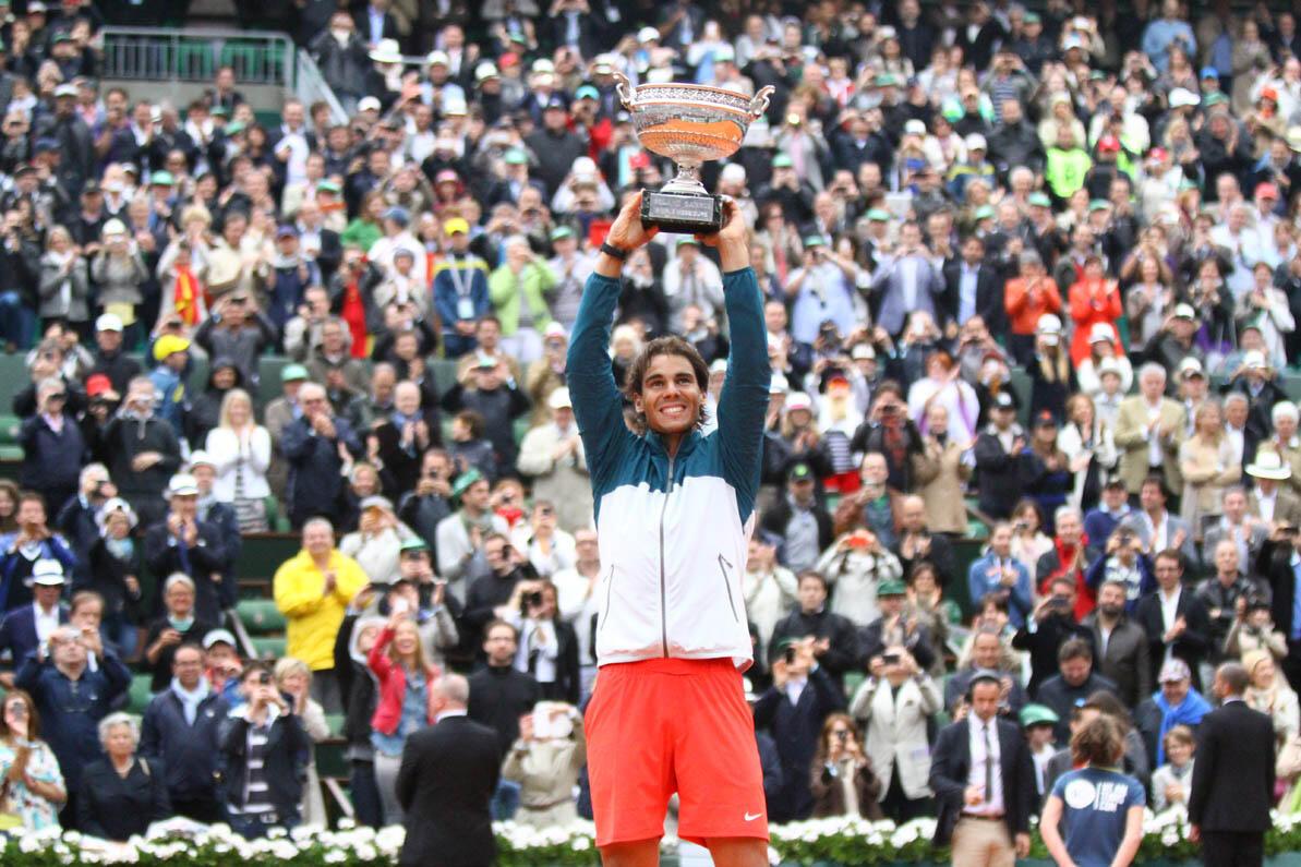 Rafael Nadal baada ya kushinda taji la French Open