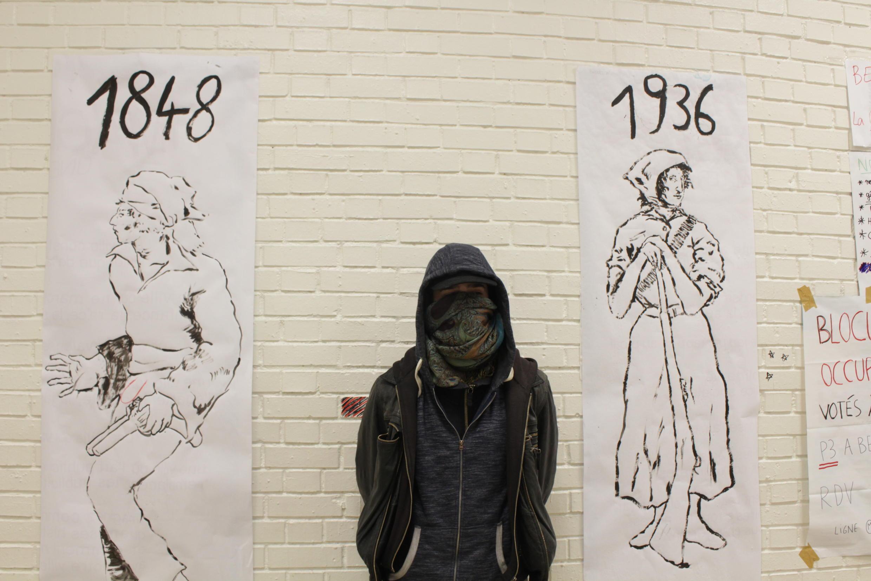 O estudante de Geografia Philippe presenciou o ataque de militantes da extrema-direita