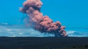 Vulcão Kilauea, no Havaí, em erupção.