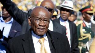 Le Premier ministre du Lesotho, Thomas Thabane, officiellement investi, à Maseru, le 16 juin 2017.