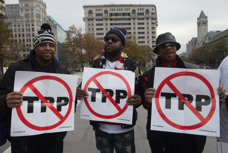 Biểu tình chống TPP tại Washington, DC, ngày 14/11/2016.