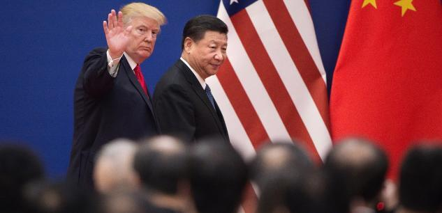 Le président américain Donald Trump et son homologue chinois Xi Jinping à Pékin. (Image d'illustration)