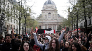 تظاهرات دانشآموزان و دانشجویان فرانسه در مارس گذشته