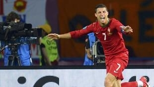 Le Portugais Cristiano Ronaldo, après son second but contre les Pays-Bas, le 17 juin 2012.