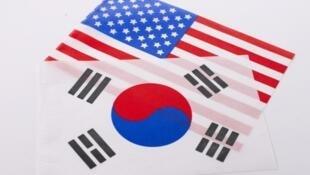 圖為韓國與美國關係圖片