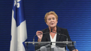 Pauline Marois, líder do Partido de Quebec, durante discurso após vitória em Montreal, no Canadá, nesta terça-feira.