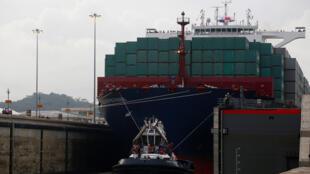 L'élargissement du canal de Panama a été inauguré par le passage d'un porte-conteneurs chinois, le 26 juin 2016.