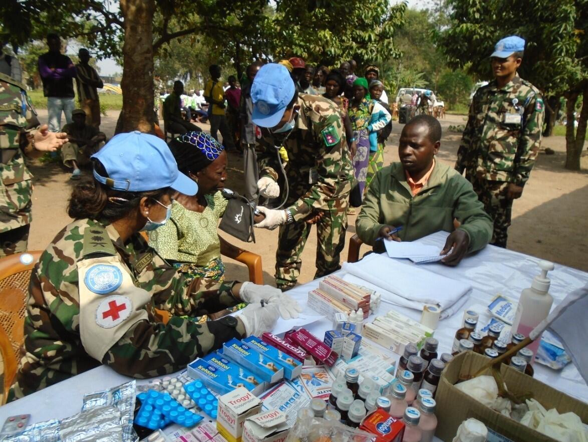 MONUSCO Nepalese Battalion conducted a medical campaign in the village of Mataba, Mulekera commune, Beni territory, North Kivu.