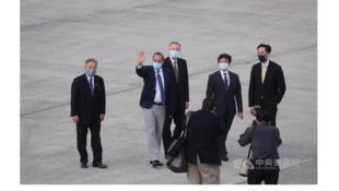 Capture le ministre de la sante americain Alex Azar en visite à Taiwn