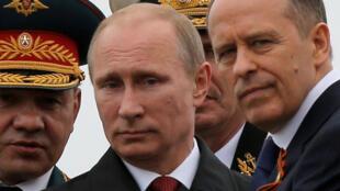 俄羅斯總統普京和國防部長資料照