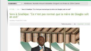 Guillaume Soro, président de l'Assemblée nationale ivoirienne, en visite à Gnaliepa, en pays bété