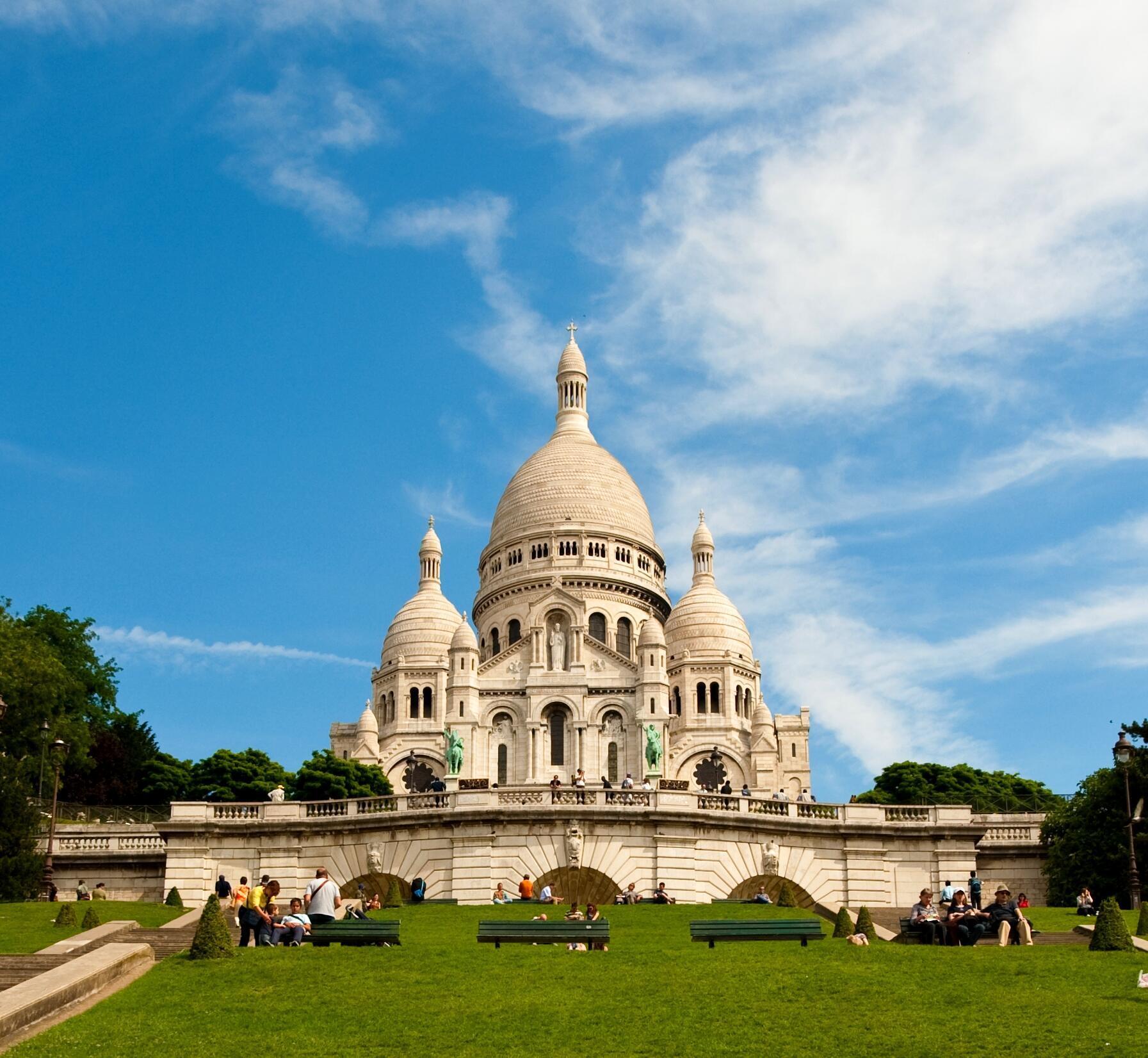 Basílica de Sacré-Coeur em Montmartre, Paris.