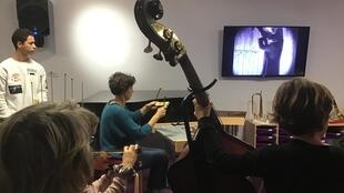 Improvising scary music for a silent horror film - the 'Museum Shivers' workshop at the Paris Philharmonic coincided with Halloween