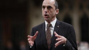 Steven Blaney, le ministre de la Sécurité publique canadien, le 17 février 2015, à Ottawa, au Canada.