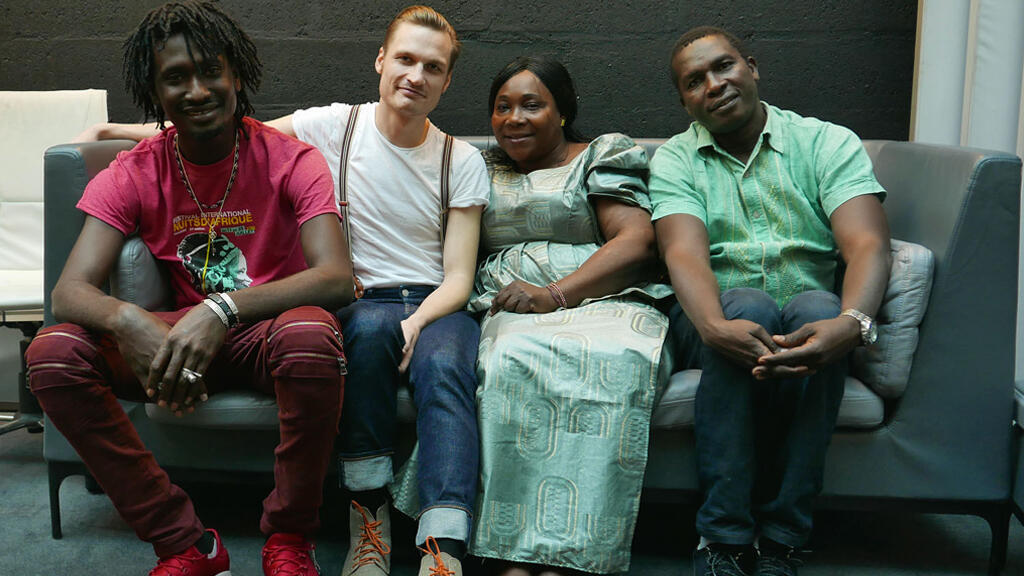 Mamadou Kouyaté, Bror Gunnar Jansson, Hawa Kassé Mady Diabaté et Lassana Diabaté à RFI.