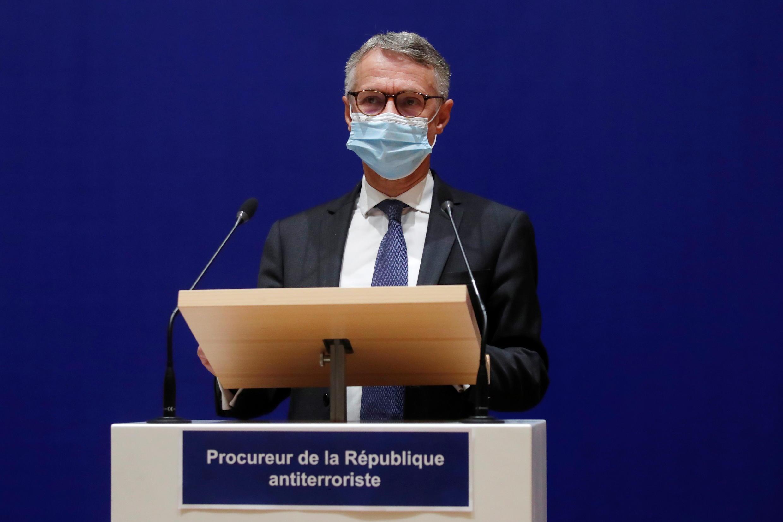 Глава Национальной антитеррористической прокуратуры Франции Жан-Франсуа Рикар на пресс-конференции 21 октября