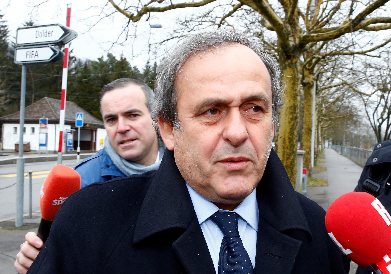 Michel Platini, na sede da FIFA em Zurique, Suíça. 15/02/2016.